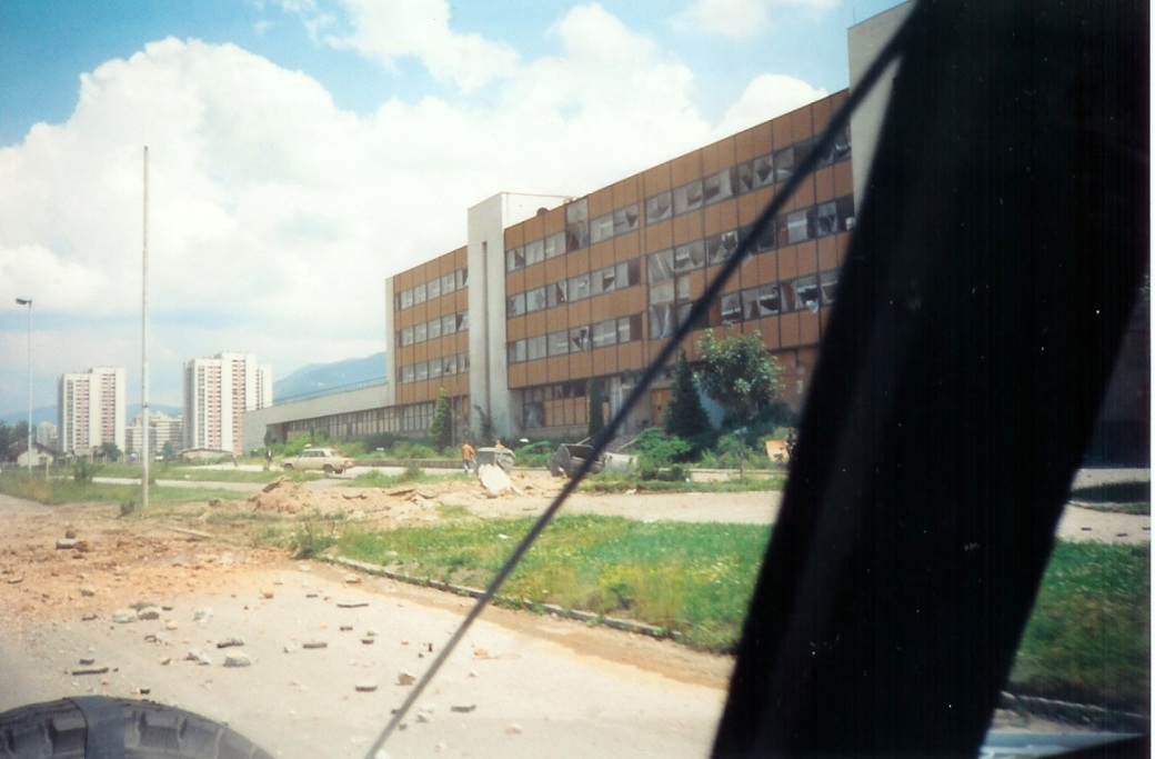 500lb aircraft bomb explosion site (outside TV2 building)