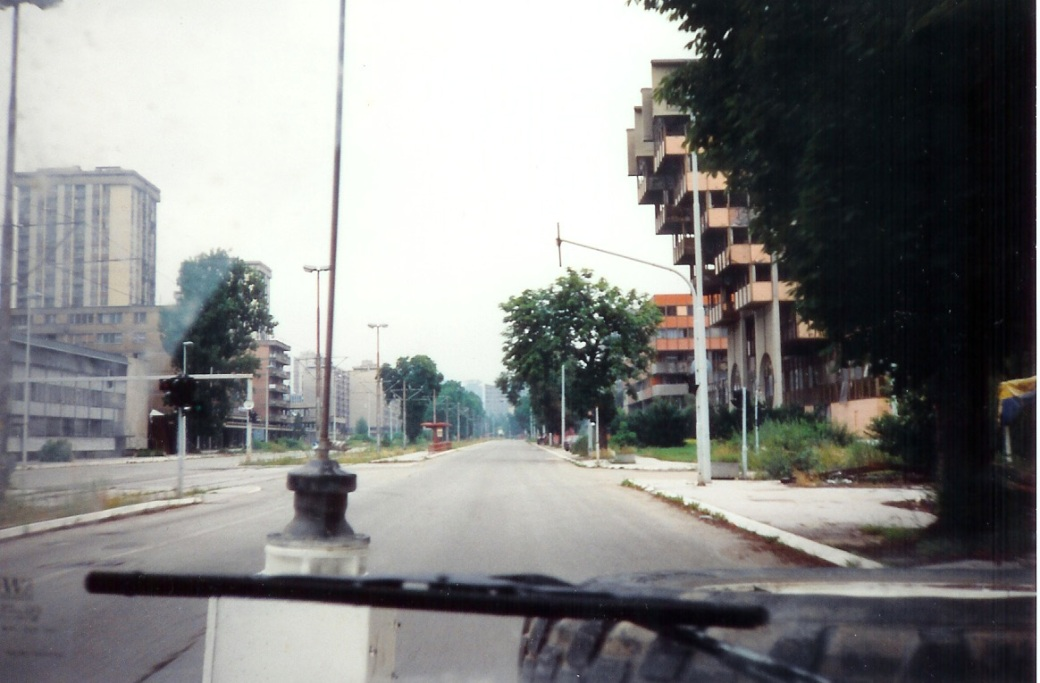 Start of Sniper Alley (Serbs dug in around 50m on right)