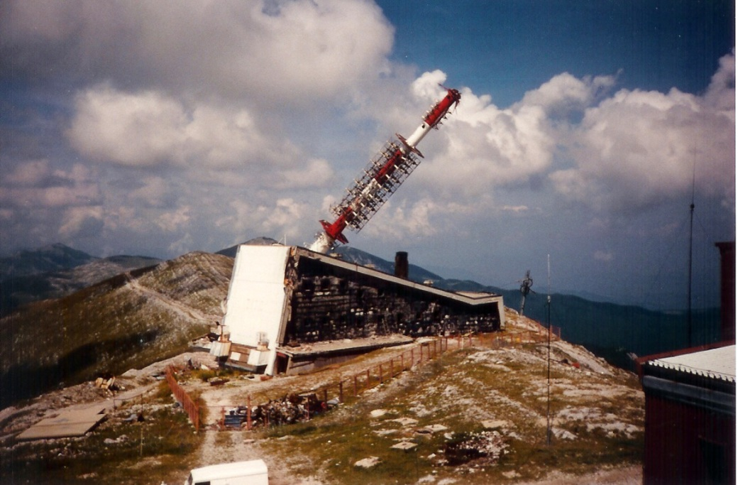 Destroyed comms tower - Bjelasnica